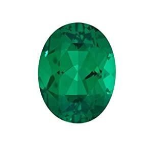 2.45 Cts of 10x8 mm AAA Oval Russian Lab Created Emerald (1 pc) Loose Gemstone