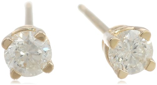 14k Gold Round-Cut Diamond (0.25 cttw, H-I Color,