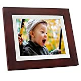 GiiNii GH-811P 8-Inch Digital Picture Frames (Brown Black with White Mat)