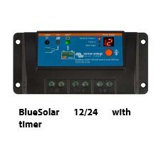 BlueSolar 12/24 v 10 a avec minuteur/u = 55 vmax solaire