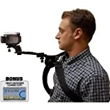 Hands Free Camcorder Shoulder Stabilizer With Carrying Case For The Samsung HMX-F80, Q20, QF20, W300 Digital Camera