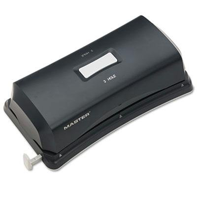 Brand New Master 15-Sheet Duo Electric/Battery Punch Two- And Three-Hole Fixed Position Sides