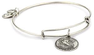 "Alex and Ani ""Bangle Bar"" Rafaelian Silver Finish Aquarius Bracelet"