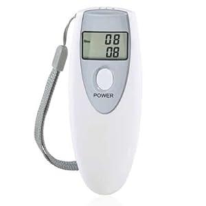 Digital Display Alcohol Breath Tester (White)