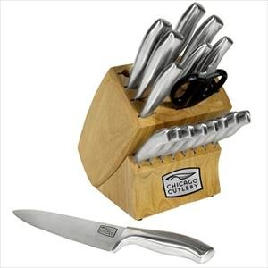 Chicago Cutlery Insignia Steel 18Pc Stainless Steel Knife Block Set