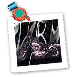 3dRose qs_ 145_1 Quilt Square Picturing Harley-Davidson Number 174 Motorcycle