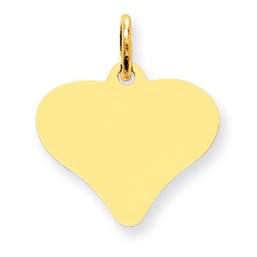 PendantObsession's 14K Heart Disc Charm - XM532-13