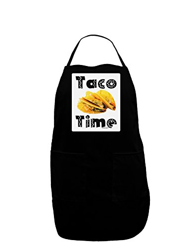 TooLoud Taco Time - Mexican Food Design Panel Dark Adult Apron