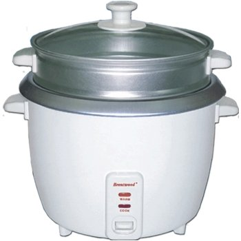Brentwood 4 Cup Rice Cooker/Non-Stick With Steamer TS-700S