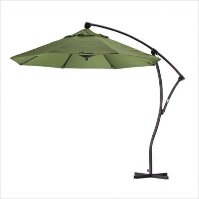 California Umbrella 9-Foot Cantilever Aluminum Tilt Umbrella, Palm Green