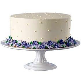 Wilton White Ceramic Pedestal Cake Stand