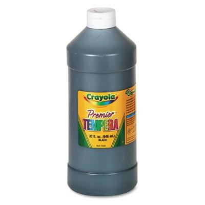 Crayola Premier Tempera Paint, Black, 32 Oz, Case of 3