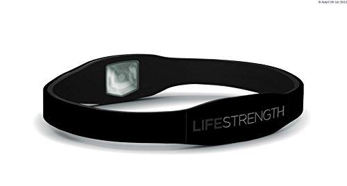 LifeStrength Bracciale Ion Negativo, Bianco, Grande