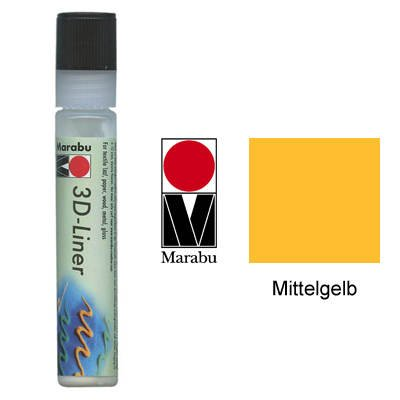"""Marabu Relieffarbe """"3D-Liner"""", 3D-mittelgelb, 25 ml VE=1"""