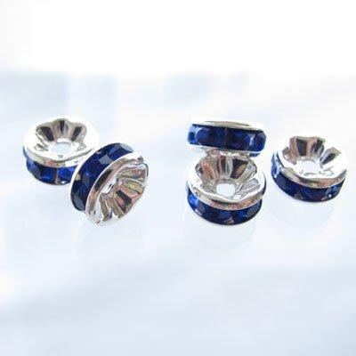ロンデル 【平枠】 1個(バラ売り) 【サイズ】8mm×3mm 【カラー】ブルー