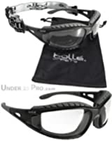 Bolle Tracker 2/II Safety Glasses - Clear Lens, Retaining Cord & Storage Pouch