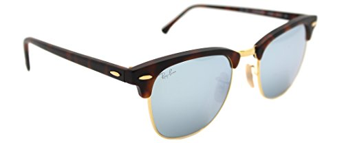Ray-Ban Clubmaster RB 3016 1145/30 Havana/light Green Mirror Silver 51mm