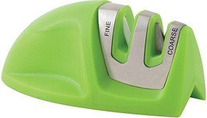 Lowest Prices! KitchenIQ Manual Edge Grip 2 Stage Knife Sharpener (Green)