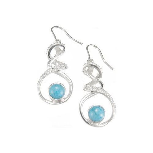 MarahLago - Larimar & White Topaz Dante Earrings