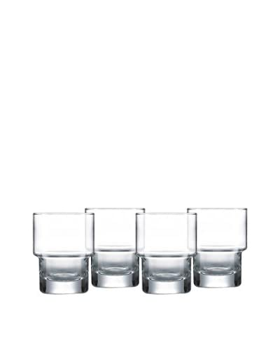 Arc International Set of 4 Bergen 10.5-Oz. Stackable Double Old Fashioned Glasses