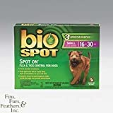 Bio Spot for Dogs 3 dose (3 -1 cc) pkg. (small dogs 16 to 30 lbs.) 3 months