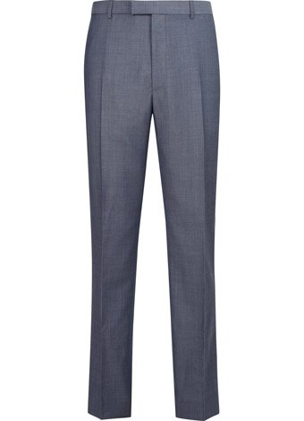 Austin Reed Contemporary Fit Airforce Wool Trousers REGULAR MENS 34