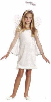 Child's White Dream Angel Halloween Costume (Size: X-Small 4-6)