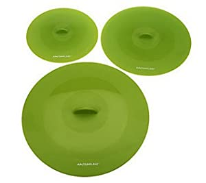 Rachel Ray Tools & Gadgets Top-This Suction Lid, Small/Medium/Large, Green, 3-Piece Set