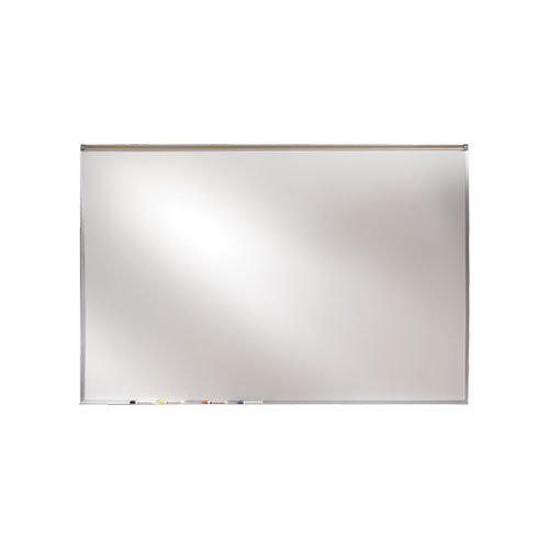 Ghent 48.50 x 72.50 Inches Aluminum Frame Porcelain Magnetic Projection Whiteboard with 1-Inch Maprail (PRM1-46-4)
