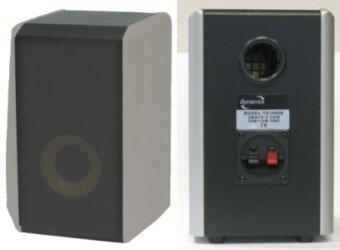 Dynavox TG-1000B Hifi Regal Lautsprecher 50 Watt silber (Paar)
