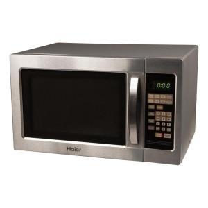 Haier MWM10100SS 1-Cubic-Foot 1000-Watt Microwave Oven, Stainless