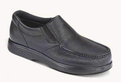 SAS Men's Side Gore Slip-on shoe, Black Leather, 9.5W (Sas Shoes For Man compare prices)