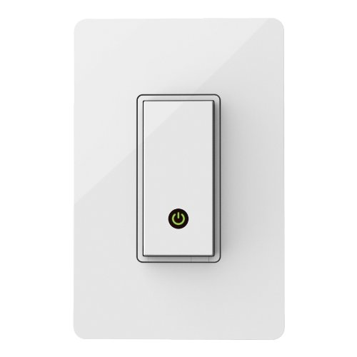 WeMo Light Switch, Wi-Fi Enabled, Control Your Lights from Anywhere, Compatible with Amazon Echo