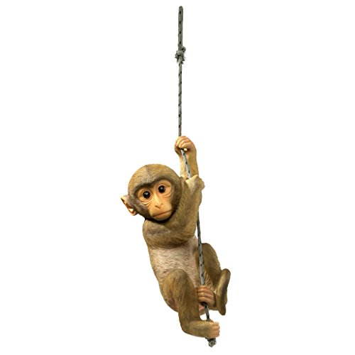 Design Toscano The Chimpanzee Hanging Baby Monkey Statue