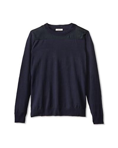 Valentino Men's Crew Neck Sweater with Overlay