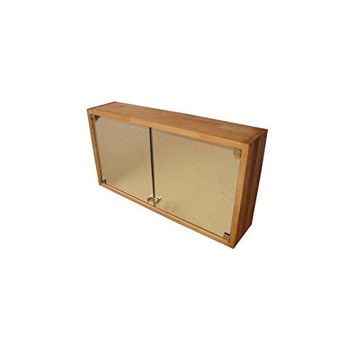 Praktischer-Badezimmerschrank-Spiegelschrank-Hngeschrank-aus-Massivholz-Buche-gelt
