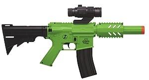 Crosman Undead Apocalypse Zombie Purge CQB Electronic Full-Auto Airsoft Rifle, Black/Green