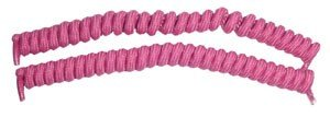Vizi Coil Self Tying Spring Laces Fuchsia Pink Shoe/Boot Laces