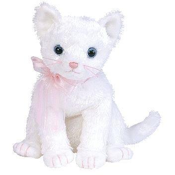 Ty Beanie Babies Fancy - White Cat