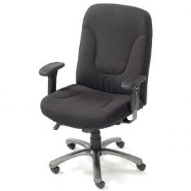 Big Tall Contoured Office Chair Black