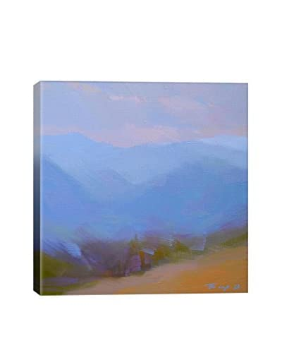Yuri Pysar Mountainous Blue Gallery-Wrapped Canvas Print