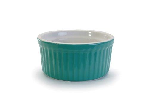 BIA Cordon Bleu Stoneware 4.5 ounce Teal Ramekin - Set of 4