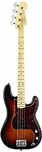 Fender American Standard Precision Bass 4-String Electric Bass Guitar, Maple Fretboard - 3 -Color Sunburst
