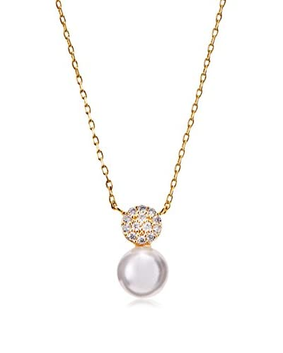 Chloe & Theodora Glass Pearl Drop Necklace