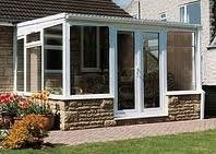 Conservatory 4.5x3m white upvc, lean-to from Simco conservatories