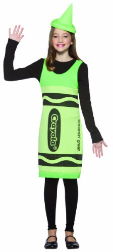 Rasta Imposta Crayola Screamin? Tank Dress, Green, Tween 10-12