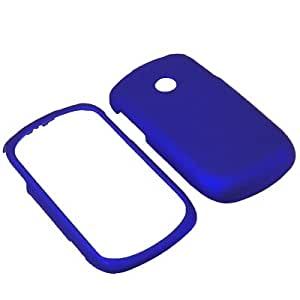 BW Hard Shield Shell Cover Snap On Case for Tracfone, Net 10 LG 800G -Blue