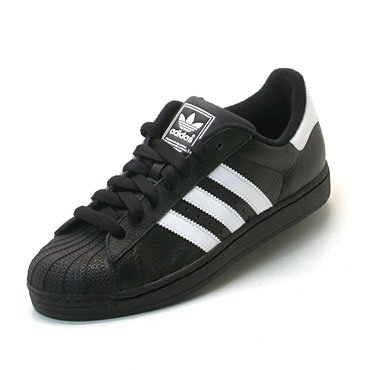 adidas SUPERSTAR II schwarz, Größe:UK 10.5 (45 1/3)