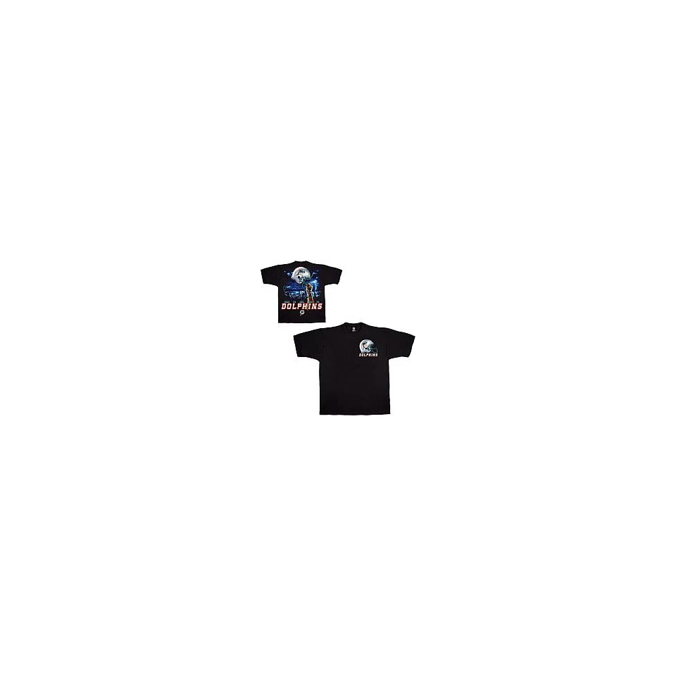 Liquid Blue Miami Dolphins Sky Helmet T Shirt Medium