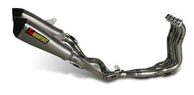 Akrapovic Racing Line Exhaust with Hexagonal Muffler - Dual Exhaust System/Titanium